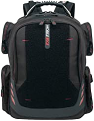 Mobile Edge - Core Gaming Backpack with Velcro Front Panel 17-18 - Black with Red Trim (MECGBPV1)