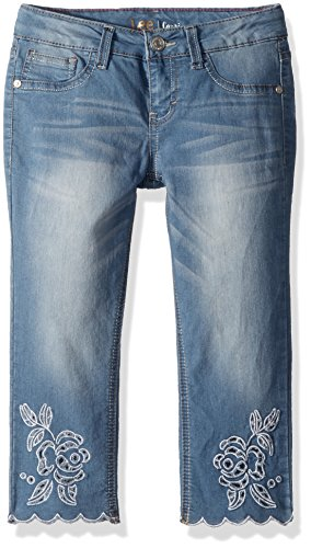 LEE Girls' Big Fashion Skinny Capri Jean, Blasted Blue, 12 ()