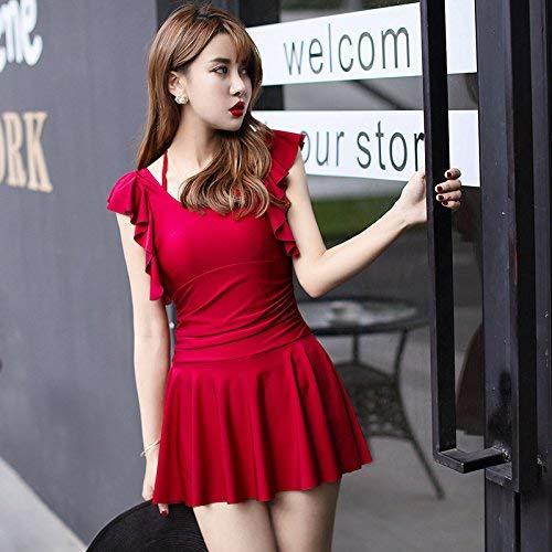 L Unique Style Montré Rouge Bain Xl Montré Plate Zhrui Jupe Président Fendue De Comme Taille Conservateur Maillot coloré Série HwUqTU7F