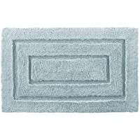 Kassatex 100-Percent Egyptian Cotton Kassa Design Bath Rug, 24 by 40-Inch, Robins Egg Blue