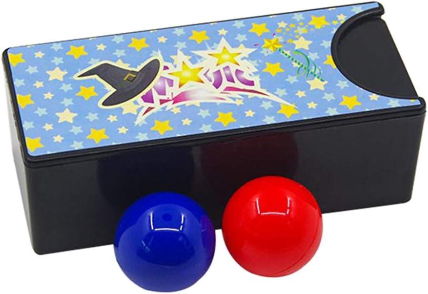 perfeclan Caja Que Convierte la Bola roja en la Bola Azul, Trucos de Magia de Cerca Color Aleatorio Truco m/ágico Prop Toy para ni/ños Caja M/ágica misteriosa