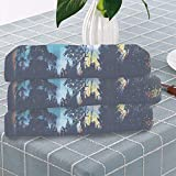 C COABALLA Fantasy Art House Decor Pool Towel,Enchanted Night with Stars and Northern Lights in Sky Above Mystic Road for Swimming Pool Bathing,One Sided Printing:Bath Towel Set of 3