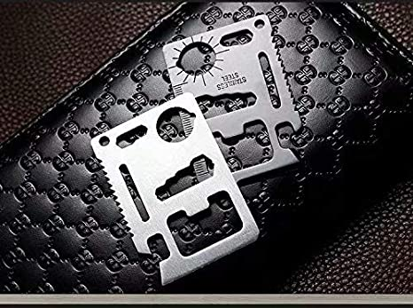 A Apribottiglie in acciaio inox a forma di carta di credito con simbolo del poker 1 pezzo Acciaio inossidabile per portafogli colore argento