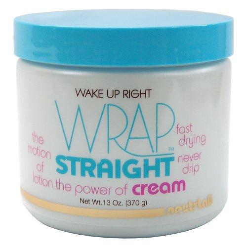 Wake Up Right Wrap Straight Cream 13oz (New Black n Sassy Wrap Cream)