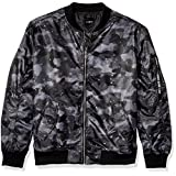WT02 Men's Lightweight Ma-1 Bomber Jacket in Solid and Camo, Grey/Black, Small