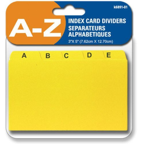 Alphabet Index Dividers - INDEX CARD DIVIDERS A - Z, 3 X 5