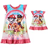 Paw Patrol Girls Nightgown Pajamas With Doll Gown (3T, Pup Power Pink)