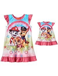 Paw Patrol Girls Nightgown Pajamas with Doll Gown (Toddler)