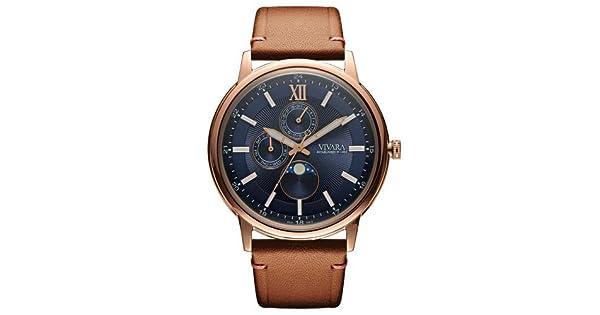 ac6d0b80646 Relógio Vivara Masculino Couro Marrom - DS13461R0C-1  Amazon.com.br  Amazon  Moda