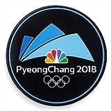 NBC PyeongChang Logo 2018 Winter Olympics Media Pin Badge (Pyeong Chang Dated Black)