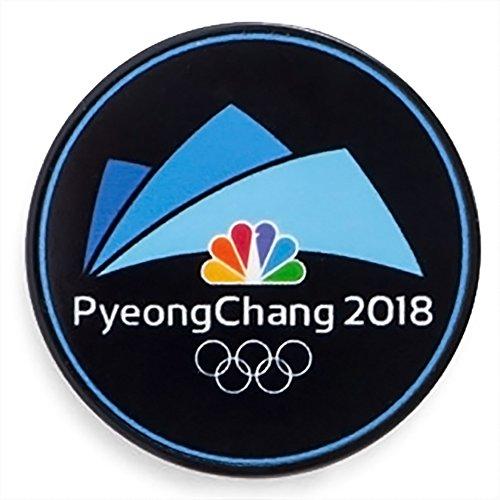 Logo Pin Badge - NBC PyeongChang Logo 2018 Winter Olympics Media Pin Badge (Pyeong Chang Dated Black)