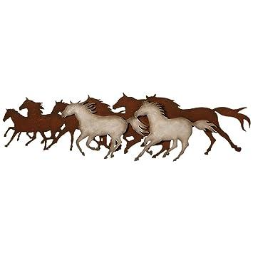 Galloping Horses Metal Western Wall Art   Rustic Decor
