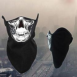 ZHUOTOP Sport Windproof Skiing Neck Warmer Winter Skeleton Ghost Skull Half Face Mask