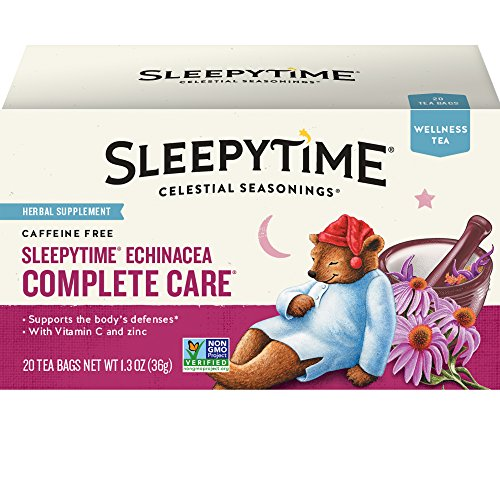 Celestial Seasonings Wellness Tea, Sleepytime Echinacea Complete Care, 20 Count (Pack Of (Boost Complete Care)