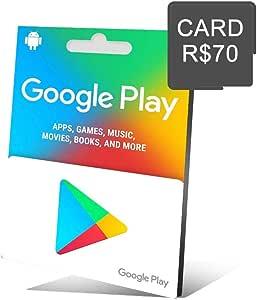 Cartão Presente Google Play R$ 70 Reais Gift Card