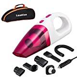 Car Vacuum Cleaner, High Power LeadCon DC 12v Portable Handheld Car Vacuum Wet Dry 4.5Kpa Suction Auto Vacuum Cleaner Tools with Cigarette Lighter Plug 16.4ft Power Cord