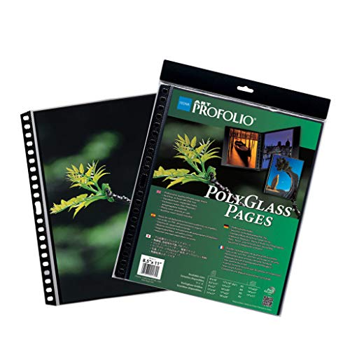 The ProFolio by Itoya Art Profolio PolyGlass Refill Pages has a unique rigid spine weld designed for easy insertion into multi-ring binders. Available in vertical and horizontal formats. They will not stick to ink jet, laser or copier toner. The...