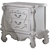 ACME Versailles Antique White Nightstand