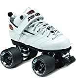 Sure-Grip Rebel Roller Skate Package - white sz Mens 6 / Ladies 7