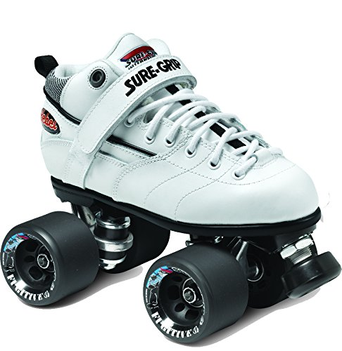 Sure-Grip Rebel Roller Skate Package - white sz Mens 6 / Ladies 7 by Sure-Grip