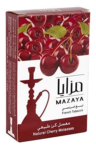 Mazaya Shisha Hookah Molasses Premium Flavors 100g for Hookah (Cherry)