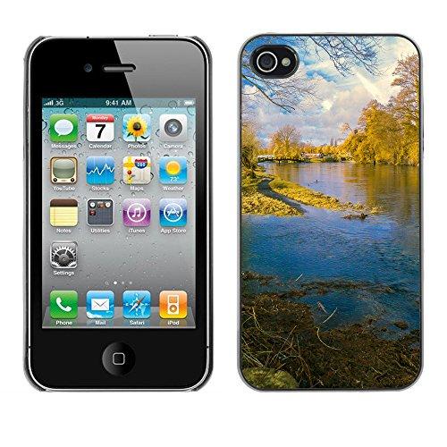 Premio Sottile Slim Cassa Custodia Case Cover Shell // F00004034 rivage et côte // Apple iPhone 4 4S 4G