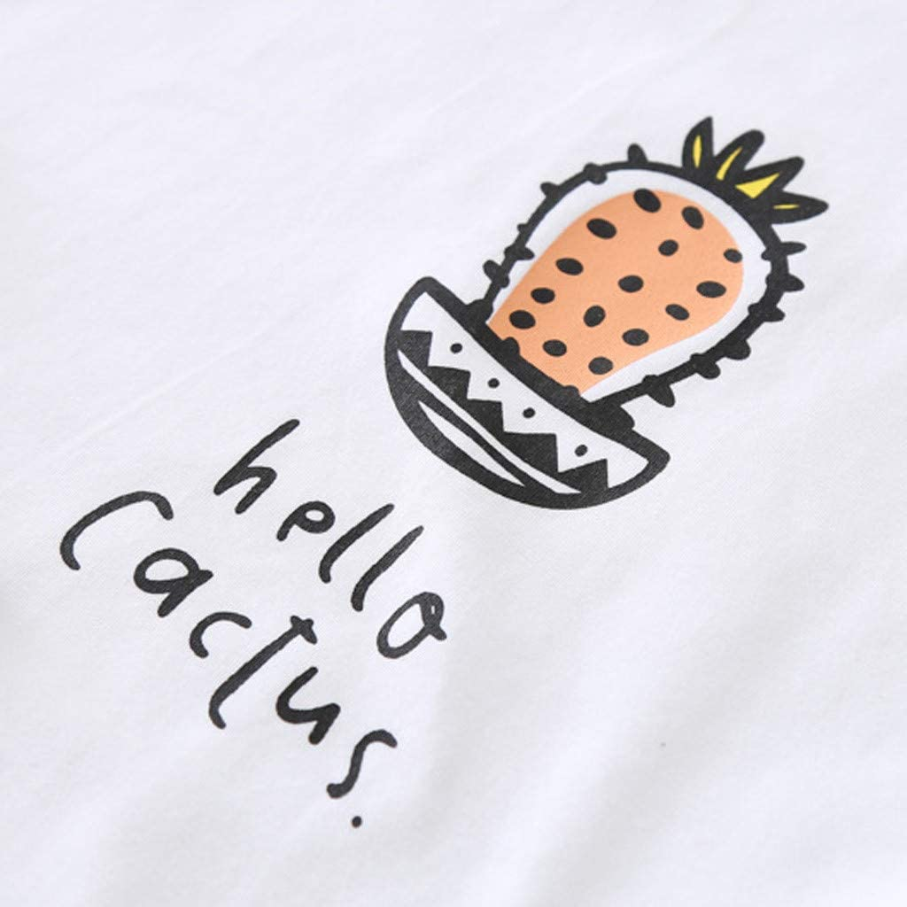Shorts Outfits Clothes Set Hello Im Cactus TM Y56 Toddler Baby Girl Kid Letter Printed T-Shirt Tops