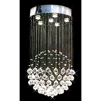 Modern contemporary chandelier rain drop chandeliers lighting with modern contemporary chandelier rain drop chandeliers lighting with crystal balls h32 x w18 aloadofball Images