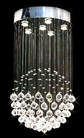 Modern contemporary chandelier rain drop chandeliers lighting with crystal balls h32 x w18