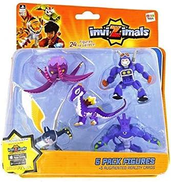 IMC Toys 30039 - Pack 5 Figuras Invizimals - KRAKEN - TRUCKTOR - STAR DRAGON - UBERJACKAL - DARK OCELOTL: Amazon.es: Juguetes y juegos