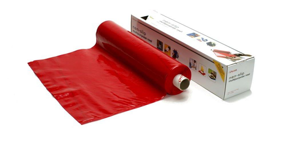ダイセム(Dycem) すべり止めシートロール (9m, 赤) B00NGIKVW0 9m|赤 赤 9m