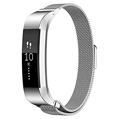 Fitbit Alta Band,Xnucol Magnetic Closure Clasp Mesh Band Milanese Loop Style Stainless Steel Bracelet Strap for Fitbit Alta