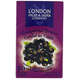 London Fruit & Herb Company Blackcurrant Bracer Tea, 20 Count Tea Bags (Pack of 6) 11 20 Count London fruit & herb company Black currant bracer tea