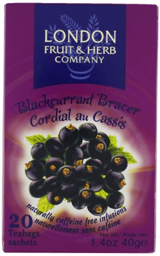 London Fruit & Herb Company Black Currant Bracer Tea, 20 Count 1 20 Count London fruit & herb company Black currant bracer tea
