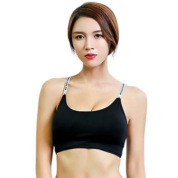 a7af9f7ea343e Hankyky Women Sports Bra Wireless Detachable Soft Padded Y-Line Bras  Underwear for Running Gym