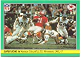 1984 Fleer Team Action Super Bowl IV #60 - Kansas City Chiefs, Mike Garrett