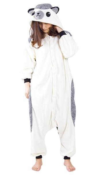Fandecie Pijama Erizo, Onesie Modelo Animales para adulto entre 1,60 y 1,