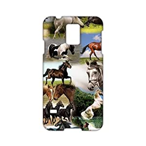 Angl 3D Case Cover Running Horses Phone Case for Samsung Galaxy s 5