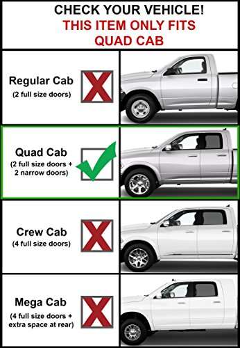 Galaxy Auto 4 Oval Straight for 2009-18 Dodge RAM 1500 /& 2010-19 RAM 2500//3500 Crew Cab Side Steps Nerf Bars Running Boards Black