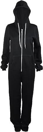 AXTokyo Plain de Mujer para Pijama Capucha para Traje de Buzo de Cuerpo Entero Cierre de Cremallera