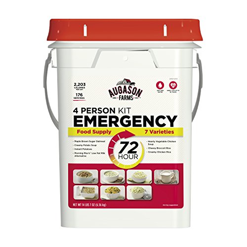 Augason Farms 5-20100 72-Hour 4-Person Emergency Food Storage Kit 14 lbs 7 oz (Best Emergency Food Supply Kit)