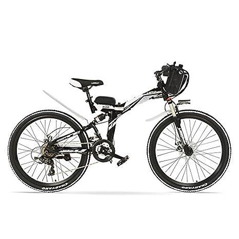 LANKELEISI K660 24 pulgadas, bicicleta eléctrica plegable de 48V 12AH 240W, suspensión completa, frenos de disco, bicicleta E, bicicleta de montaña.