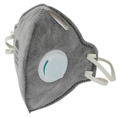Grower's Edge Clean Room Vertical Fold-Flat Active Carbon Respirator 10 Masks w/ Valve