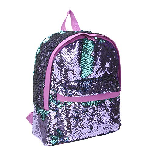 Cute Mini Backpack for Teen Girls Fashion Magic Mermaid Sparkly Sequin Small Daypacks Purse for Ladies (Purple) ()