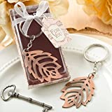 100 Copper Color Metal Fall Leaf Design Key Chain