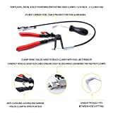 Carbon Steel Cable-Type Flexible Hose Clamp Pliers - 25 Inch Shaft - Includes Hose Removal Tool