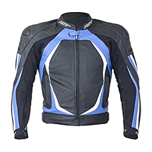 RST Blade II Leather Motorcycle / Motorbike Sports Jacket - Blue 2XL