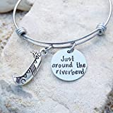 Disney, Disney Jewelry, Pocahontas, Just around the riverbend, Disney Bangle, Disney Bracelet, Disney Wedding, Disney Bride, Bridesmaid Gift, Hand Stamped, Handmade