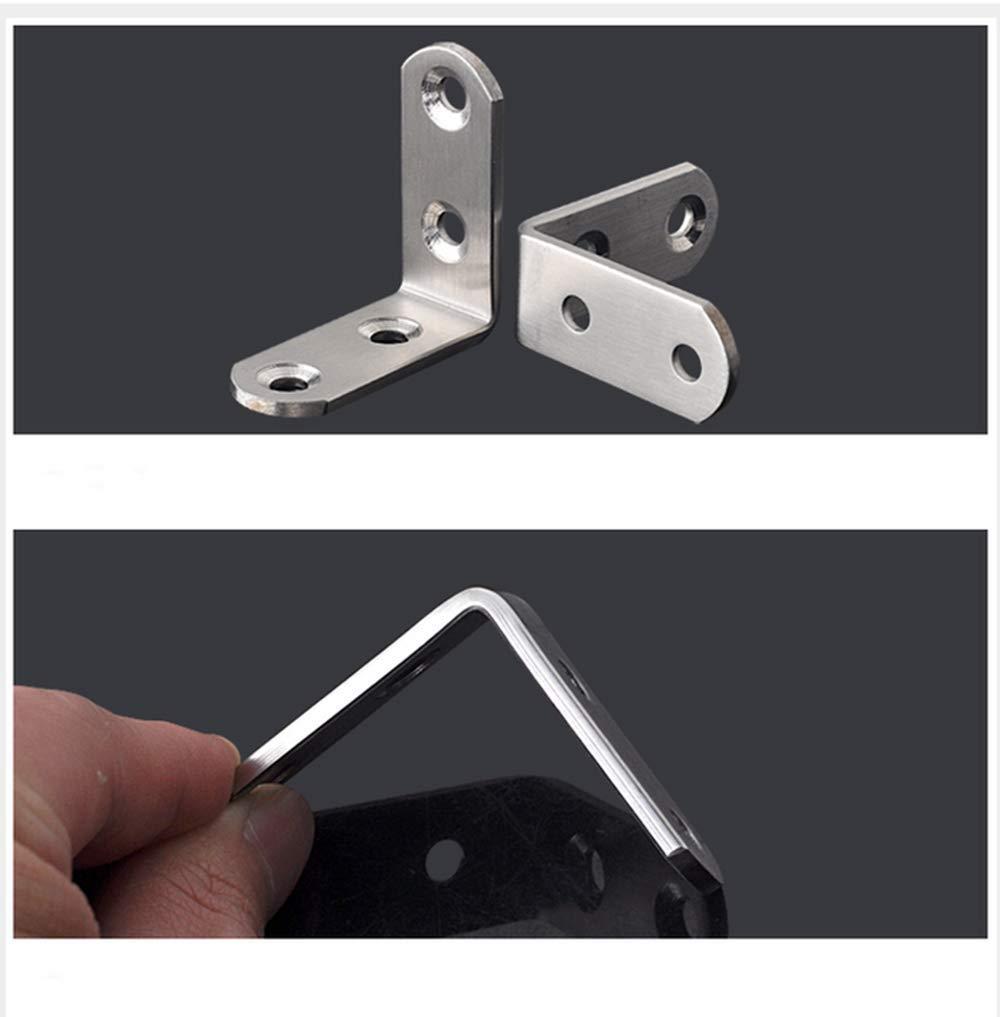 Corner Bracket,20 Pcs Stainless Steel Bracket 90 Degree Right Angle Corner Bracket Fastener Stainless Steel L Bracket Steel with 80 Pcs Screws 40 40mm