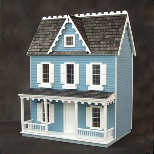 Dollhouse Miniature 1/24 Scale Farmhouse Kit by RGT (Real Good Toys)